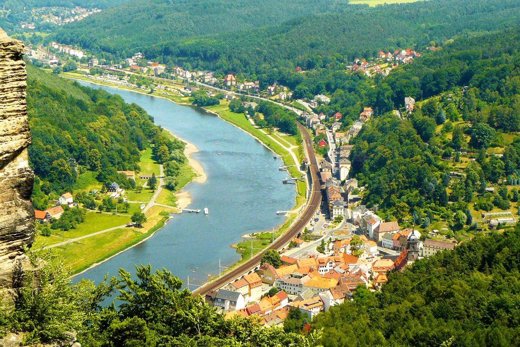 Elbtalblick von der Festung Königstein